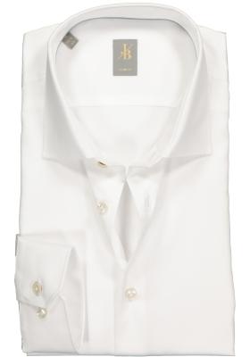 Jacques Britt overhemd mouwlengte 7, Como, Slim Fit, wit satijnbinding