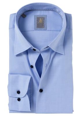 Jacques Britt overhemd mouwlengte 7, Como, Slim Fit, lichtblauw twill (contrast)