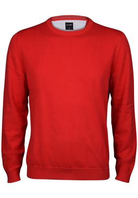 OLYMP heren trui katoen, O-hals, rood
