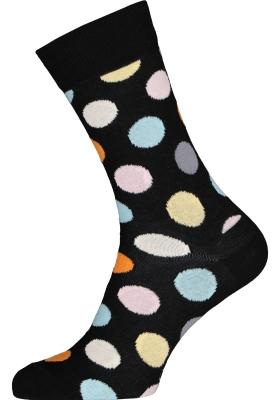 Happy Socks sokken Big Dot Sock, zwart met kleur