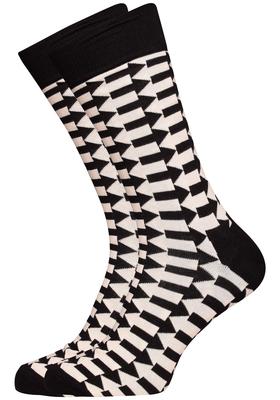 Happy Socks herensokken Direction Sock, zwart met wit