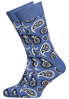Happy Socks herensokken Paisley, jeans blauw