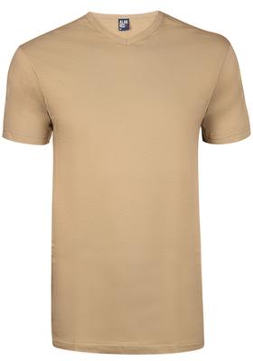 Alan Red T-shirt Vermont, V-hals, donker kaki