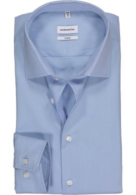 Seidensticker x-slim fit overhemd, lichtblauw