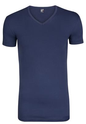 Alan Red stretch T-shirt Oklahoma, V-hals, kobalt blauw