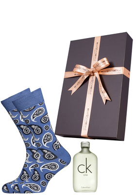 Heren cadeaubox: Ck One parfum + Happy Socks