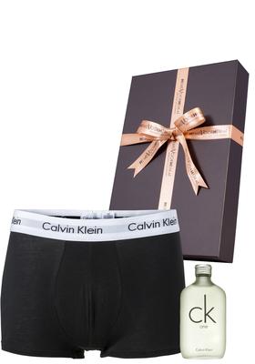 Heren cadeaubox: CK One parfum + Calvin Klein boxershort