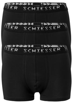 Actie 3-pack: Schiesser Pima Cotton, boxershorts, zwart