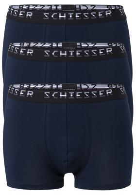 Actie 3-pack: Schiesser Pima Cotton, boxershorts, blauw