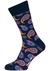 Happy Socks sokken Paisley, donkerblauw met oranje