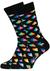 Happy Socks sokken Pyramid Sock, zwart met kleur