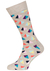 Happy Socks sokken Pyramid Sock, beige met kleur