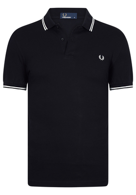Fred Perry M3600 shirt, polo Black / Porcelain / Porcelain