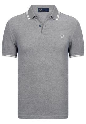 Fred Perry M3600 shirt, polo Carbon Blue Oxford / Ecru / Ecru