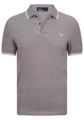 Fred Perry M3600 shirt, polo Mahogany Oxford / Ecru / Ecru