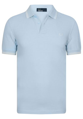 Fred Perry M3600 shirt, polo Sky Blue Oxford / Ecru / Ecru