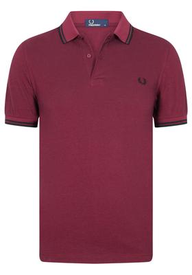 Fred Perry M3600 shirt, polo Claret Mahogany Oxford / Black