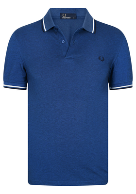 Fred Perry M3600 shirt, polo Prince Carbon Oxford / Snow White / Navy