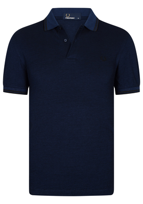 Fred Perry M3600 shirt, polo Medieval Blue Black Oxford / Black