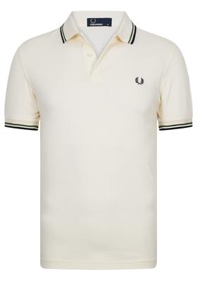 Fred Perry M3600 shirt, polo Ecru / Verde / Black