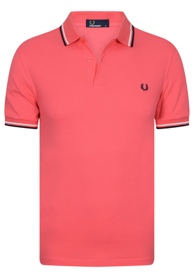 Fred Perry M3600 shirt, polo Calypso Coral / Snow White / Navy