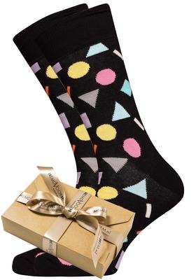 Happy Socks herensokken Play, zwart met kleur (in cadeauverpakking)