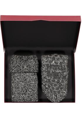Homepads sokken wol, zwart (in cadeauverpakking)