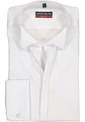 MARVELIS Body Fit Smoking overhemd, gladde stof (wing)