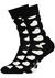Happy Socks herensokken Diagonal Heart Sock, zwart met wit