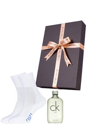 Heren cadeaubox: Ck One parfum + Falke Run