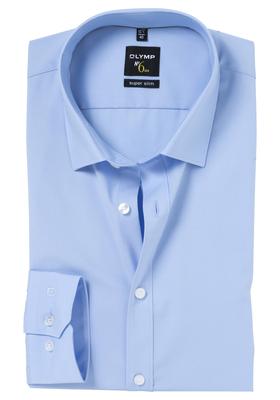 OLYMP No. 6 Six, Super Slim Fit overhemd, mouwlengte 7, lichtblauw