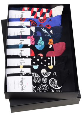 Heren cadeaubox: 8 dagen Happy Socks (gemengd)