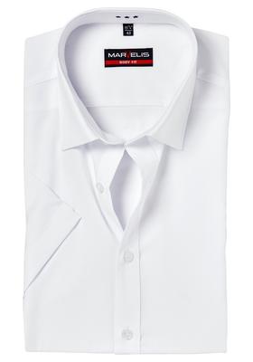MARVELIS Body Fit overhemd korte mouwen, wit