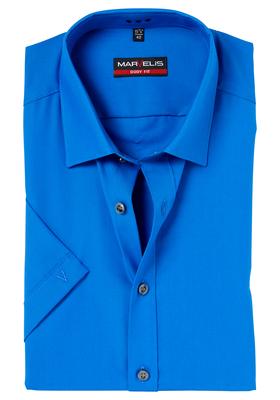 MARVELIS Body Fit overhemd korte mouwen, midden blauw