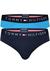 Tommy Hilfiger slips (2-pack), blauw en aqua