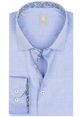 Jacques Britt overhemd, Como, Slim Fit, lichtblauw Twill (contrast)