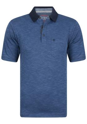 Casa Moda Comfort Fit poloshirt, blauw gêmeleerd