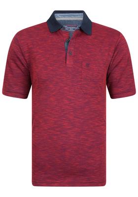 Casa Moda Comfort Fit poloshirt, rood gêmeleerd
