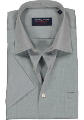 Casa Moda Comfort Fit overhemd, korte mouw, grijs