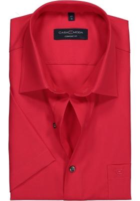 Casa Moda Comfort Fit overhemd korte mouw, rood
