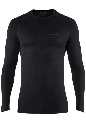 Falke maximum warm, thermo T-shirt lange mouw, zwart