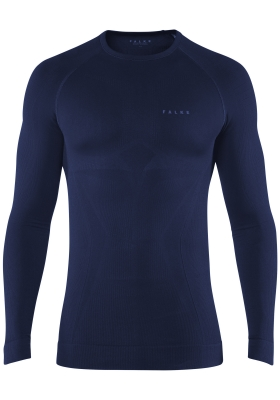 Falke maximum warm, thermo T-shirt lange mouw, blauw