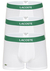 Lacoste Trunks kort model (3-pack), wit met groen