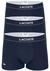 Lacoste Trunks kort model (3-pack), blauw