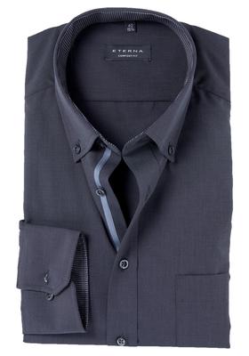 ETERNA Comfort Fit overhemd, antraciet fil à fil (contrast)