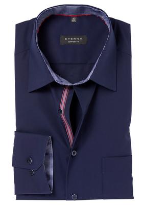 ETERNA Comfort Fit overhemd, blauw (blauw-rood contrast)