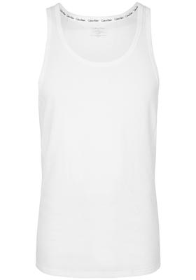 Calvin Klein Modern Cotton stretch Singlet (2-pack), O-hals, wit