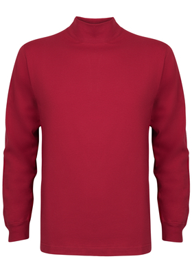 Alan Red T-shirt Illinois, turtleneck, steenrood