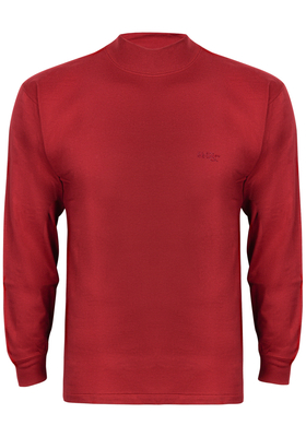 Alan Red T-shirt Illinois, turtleneck, oud-steenrood
