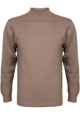 Alan Red T-shirt Illinois, turtleneck, taupe/lichtbruin